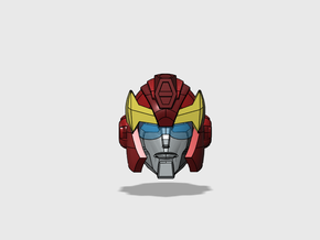 Hot-headed Recruit Head G1-style for Animated in Smooth Fine Detail Plastic