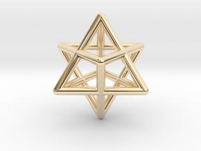 Merkaba Star Tetrahedron Pendant in 14k Gold Plated Brass