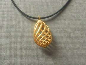 Flasket  - Pendant in metal in Polished Gold Steel