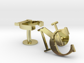 NC Cufflinks in 18k Gold Plated Brass