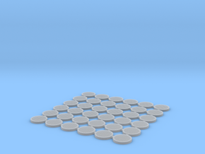 Manhole covers 01. HO Scale (1:87) in Smooth Fine Detail Plastic