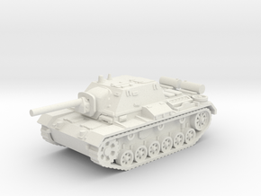 SU - 76i tank (Russian) 1/100 in White Natural Versatile Plastic