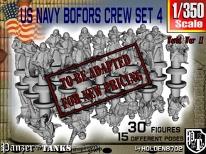 1/350 US Navy Bofors Crew Set 4 in Transparent Acrylic