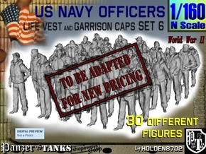 1-160 USN Officers KAPOK Set6 in Transparent Acrylic