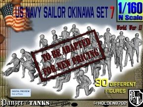 1/160 US Navy Okinawa Set 7 in Transparent Acrylic