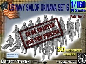 1/160 US Navy Okinawa Set 6 in Transparent Acrylic