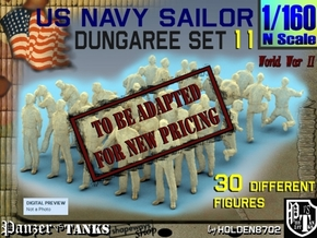 1-160 US Navy Dungaree Set 11 in Transparent Acrylic