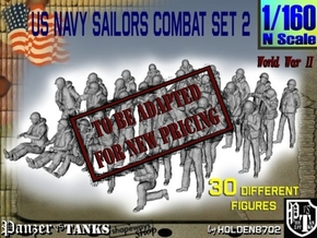 1/160 US Navy Sailors Combat SET 2 in Transparent Acrylic
