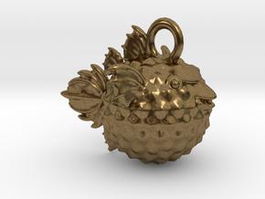 BlowFish Pendant in Natural Bronze