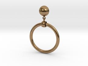 Iconic Marilyn Monroe Replica Earring in Interlocking Raw Brass