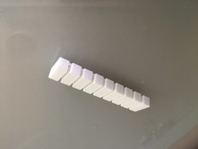 20 Foot Container, 9 pieces (1:350 scale, hollow) in White Processed Versatile Plastic