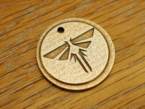 The Last of Us Firefly Pendant in Polished Bronzed Silver Steel