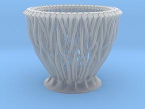 Small Organic hexagon vase/planter in Smooth Fine Detail Plastic