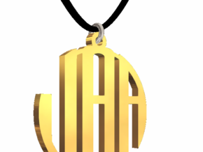 #8 - Monogram Petite - 14K Gold Pleated in 14k Gold Plated Brass