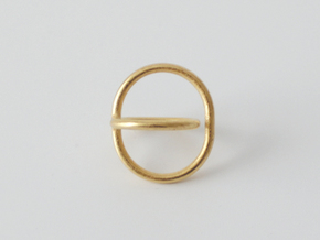 Satellite Ring  in Polished Gold Steel: 4 / 46.5