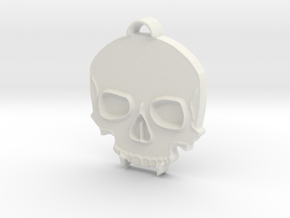 Vampire Skull in 14K Yellow Gold: Small
