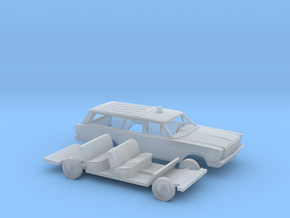 """1/160 1966 Ford Country Wagon """"FireChief"""" Kit in Frosted Ultra Detail"""