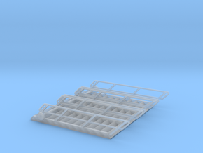 1:72 3x Stairs 12 in Smooth Fine Detail Plastic