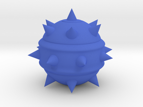 High-Poly Stickybomb (Hollow) in Blue Processed Versatile Plastic: Medium