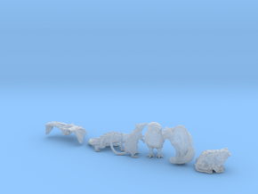 SIX ANIMAL FAMILIARS for 28mm, 32mm, 35mm miniatur in Frosted Extreme Detail