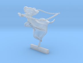 28mm mini GHOST with CHAINS   in Smooth Fine Detail Plastic