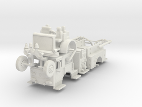"""Maxim Model style """"F"""" Fire Engine  1/87 [522 B] in White Strong & Flexible: 1:87 - HO"""