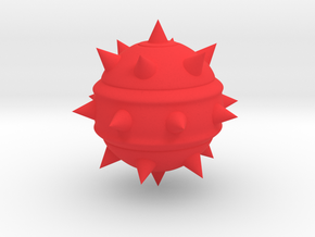 High-Poly Stickybomb (Solid) in Red Processed Versatile Plastic: Medium
