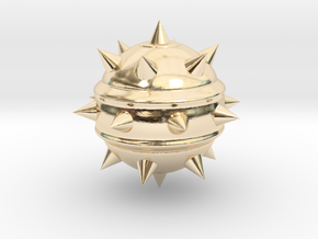 High-Poly Stickybomb (Solid) in 14K Yellow Gold: Extra Small