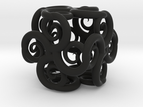 Spiral Fractal Cube in Black Strong & Flexible