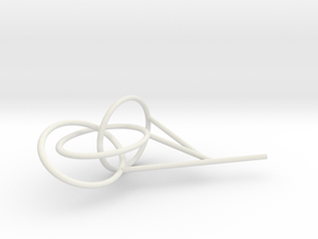 Three Link Knot bubble surface in White Natural Versatile Plastic
