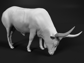 Ankole-Watusi 1:76 Grazing Female in Smooth Fine Detail Plastic