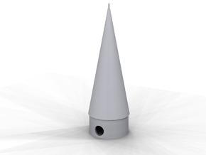 Classic estes style nose cone BNC-5S replacement in White Processed Versatile Plastic