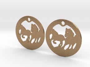 FREEDOM (precious metal earrings) in Natural Brass