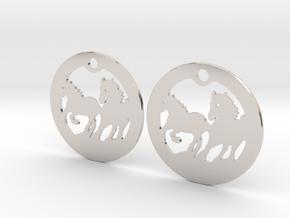 FREEDOM (precious metal earrings) in Rhodium Plated Brass