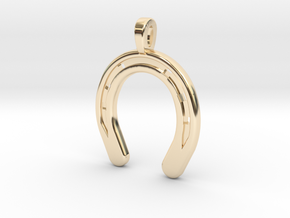 Horse Shoe pendent Small in 14K Yellow Gold