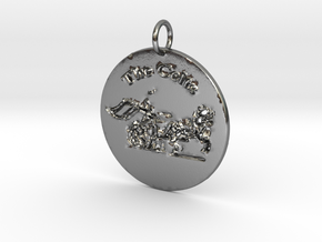 The Celts Pendant 2 in Polished Silver