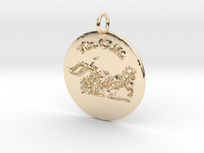 The Celts Pendant 2 in 14k Gold Plated Brass