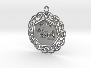 The Celts Pendant in Natural Silver