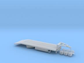N Gooseneck Equipment Trailer in Smooth Fine Detail Plastic
