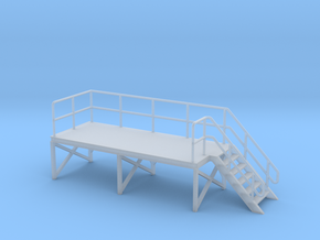 HO Train Crew Platform Stairs Right in Smooth Fine Detail Plastic