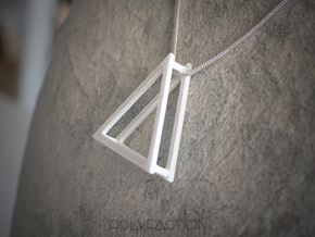 Wire ::: Triangle Pendant ::: v.01 in White Processed Versatile Plastic