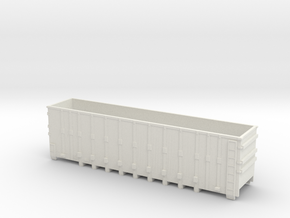 Gondola Rail Car Nscale in White Natural Versatile Plastic