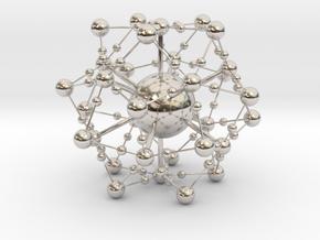 Complex Fractal Molecule in Rhodium Plated Brass