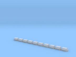 Sockelfundament ohne Mast in N  in Smooth Fine Detail Plastic