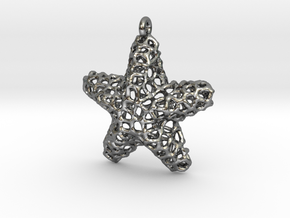 Starfish Pendant (Earrings) in Polished Silver