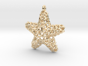 Starfish Pendant (Earrings) in 14K Yellow Gold