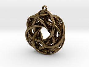 Interlocked tori earrings in Polished Bronze