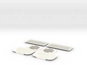 1.6 ENTREES D AIR EC135 X6 in White Processed Versatile Plastic