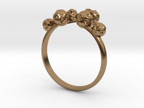 Moon Rock Ring in Natural Brass