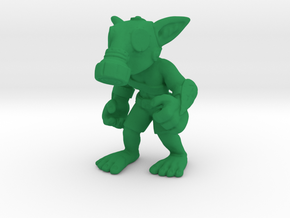 Gas Mask Goblin Miscreant in Green Processed Versatile Plastic